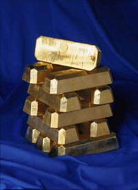 Gold ingots from Sveriges Riksbank.