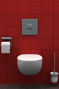 Many tankless toilets come with a sleek, modern style.
