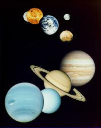 Solar system mosaic