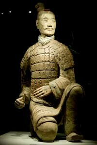 A bowman from the terracotta army.