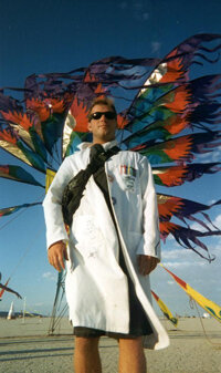 A. Garrett Lisi at the annual Burning Man festival.