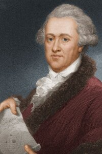 Sir William Herschel, the astronomer who discovered infrared wavelengths. He's also credited with discovering the planet Uranus.