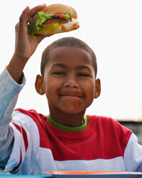 Burgers are a great source of protein for the little ones.