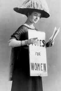 An American suffragette in 1916.
