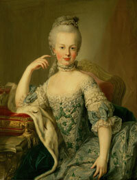 Young Marie Antoinette, blissfully oblivious to the fate that awaits her