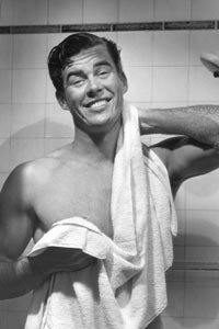 Relax and enjoy gently toweling yourself off.
