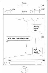 This rudimentary diagram shows the concept of Apple's patent application.