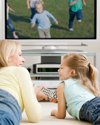 It's a good idea for parents to watch TV with their children so they can discuss what they see.
