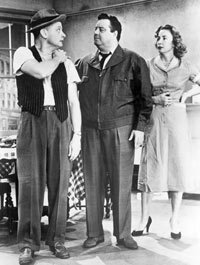 """The Honeymooners,"" and many sitcoms after it, was shot in front of a studio audience."