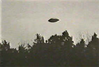 Photo of a craft that reportedly flew over a farmhouse in South Carolina in 1973