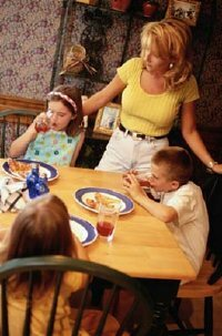 Your nightly meals will be your child's first example of a healthy attitude towards food.
