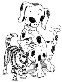 Dogs and cats are popular pets.