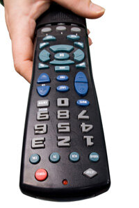 A universal remote can control all of your electronics.