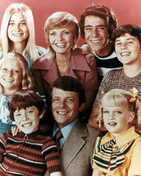 """""""The Brady Bunch"""" offered the first televised glimpse into a """"blended"""" family."""