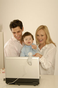Families can stay in touch by using video instant messaging.