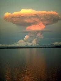 A 1990 eruption of Redoubt Volcano in Alaska.