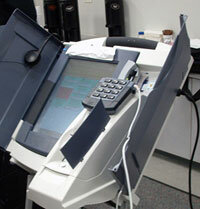 Diebold AccuVote-TSx voting machine with printer attachment