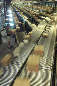 A Wal-Mart distribution center