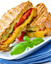 A panini press can fancy up your grilled cheese sandwich.