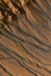 The Mars Reconnaissance Orbiter's High Resolution Imaging Science Experiment (HiRISE) camera took captured images of gully channels on Mars.