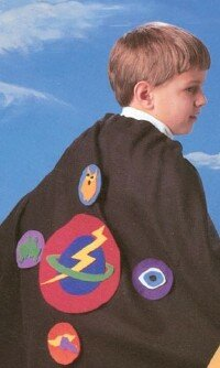 An out-of-this-world cape is just one creative kids' costume idea.