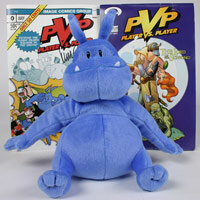 "Image courtesy HowStuffWorks A plush doll and two comic books based on Scott Kurtz's Web comic ""PvP"""