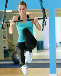 Model and actress Molly Sims tries out Jukari Fit to Fly.