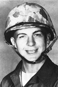 Lee Harvey Oswald at age 19, shortly before being discharged from the U.S. Marine Corps.
