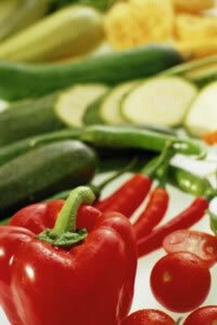 Deeply-colored vegetables are rich in nutrients.