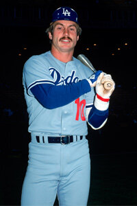 The Penguin (aka Ron Cey) poses with what appears to be an aluminum bat during his Dodger days in 1979. See more sports pictures.