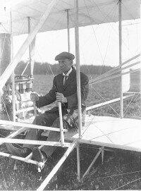 Wilbur Wright at Le Mans,France, 1909.