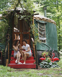 Yurts can serve as permanent residences.