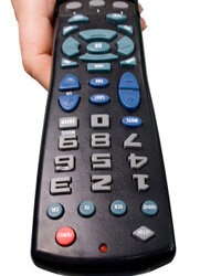 Universal remotes can help reduce clutter and give your dad dominion over his entertainment system.