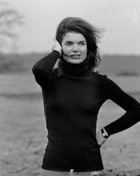 A black turtleneck is perfectly appropriate outdoors or dressed up.