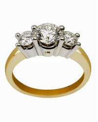 Though the diamonds in engagement rings are expensive, the gold is marked up even more.