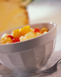 Canned fruit can sweeten up any meal.