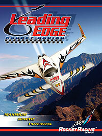 A poster for Leading Edge Rocket Racing, the first Rocket Racing League team