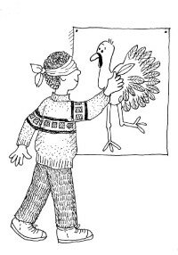 Pin the Tail on the Turkey is a fun craft and game.
