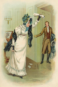 Dolley Madison, a renowned socialite, saves the Declaration of Independence from the besieged White House in this illustration.