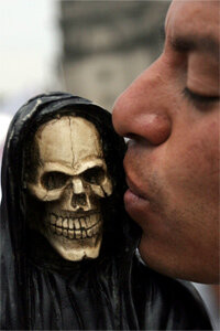 Not everyone's afraid of the Grim Reaper. A small religious sect that worships death is now fighting the Mexican government for recognition.