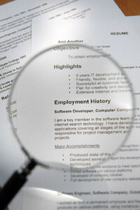 Even if it takes using a magnifying glass, review your resume rigorously for typos.