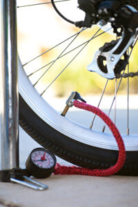 Never exceed the recommended psi on your bike tires. See more pictures of extreme sports.