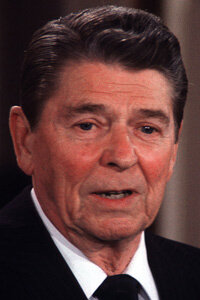 Ronald Reagan is associated with trickle-down economics because of his sweeping tax cuts.