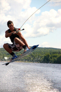 Once you master basic wakeboarding moves, you can also learn to do tricks like this.