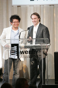 Steve Chen and Chad Hurley, co-founders of YouTube, accept the Webby Person of the Year Award at the 11th Annual Webby Awards. See more popular Web site pictures.
