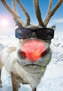 Rudolph's glowing nose would come in handy in Scandinavia, where there's little sunlight in the winter.