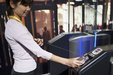 With near-field communications, people can pay by scanning their cell phone.