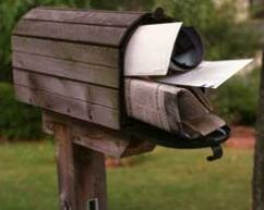 "The mailbox screams ""my owner isn't home this week, so feel free to break in."""