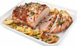 Cook a large piece of pork so you'll have extra for sandwiches!