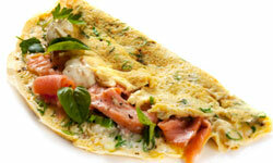 Omelets cook quickly, so they're a great choice for getting dinner on the table in a flash.